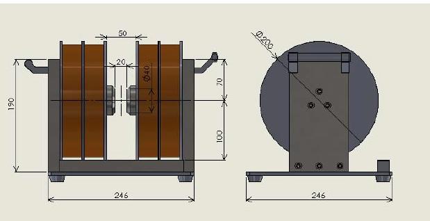 即納品 高磁場発生電磁石(空冷)(2)