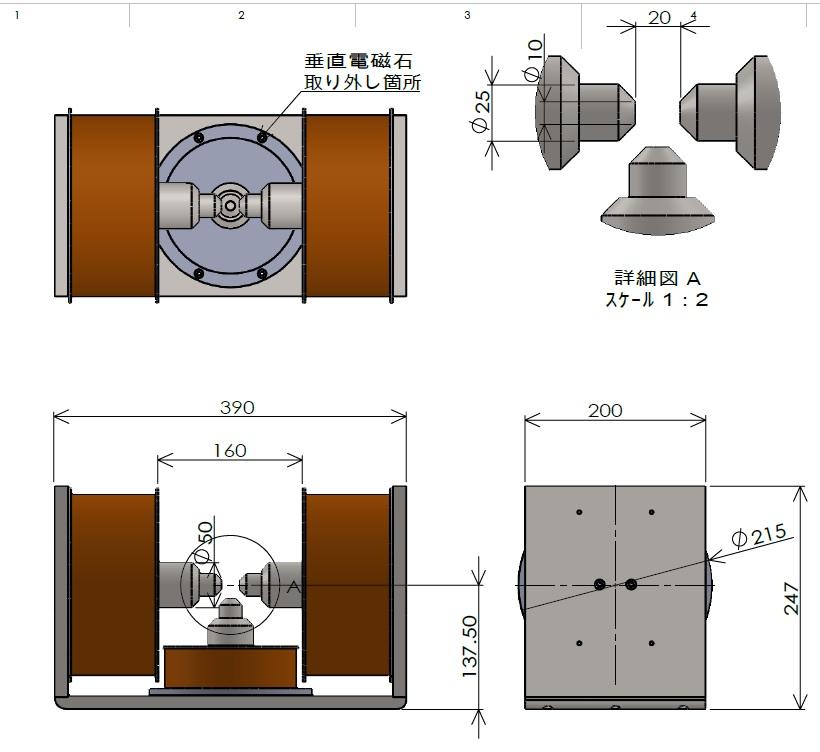 3極電磁石(面内・面直)(1)