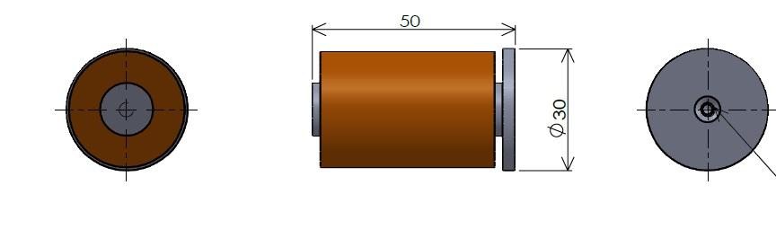 棒電磁石 高磁場・底板付(1)
